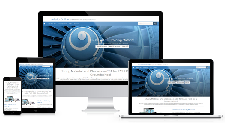 AviationOnline website on various devices